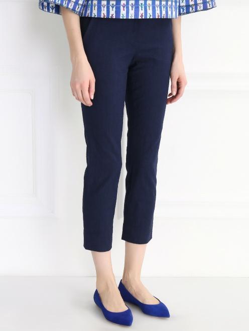 Укороченные брюки из хлопка - Модель Верх-Низ