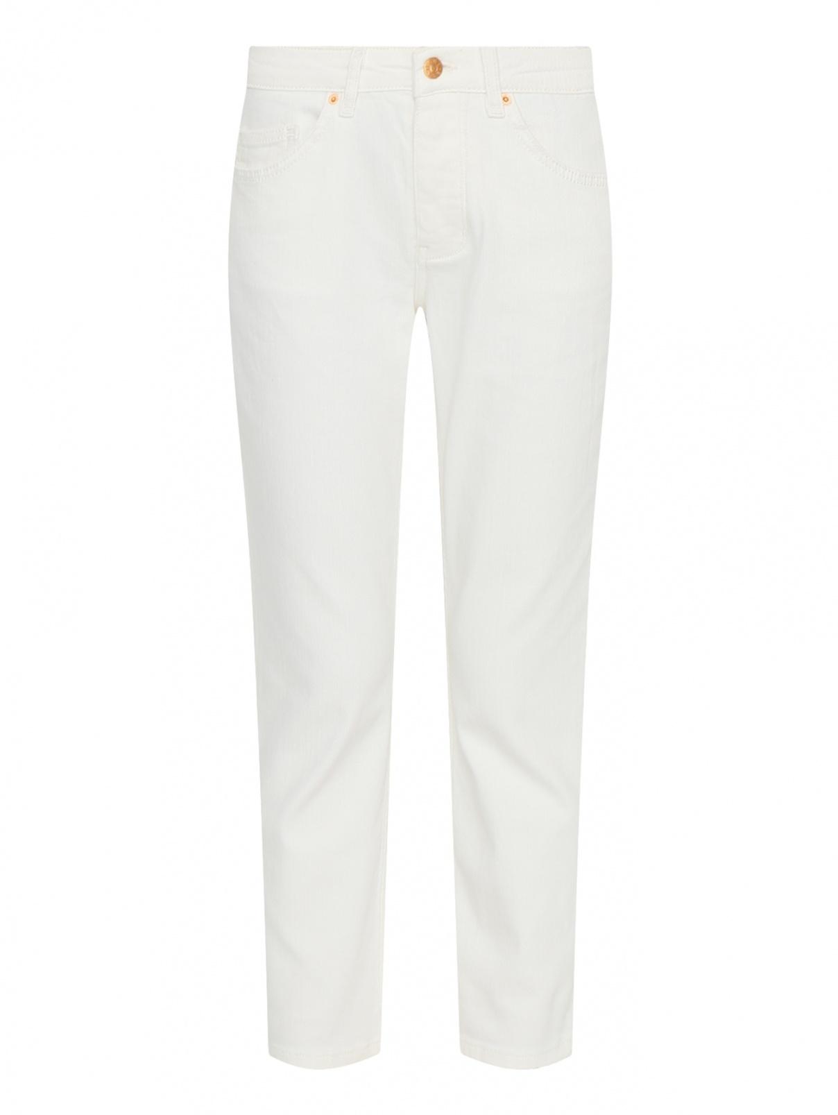 Укороченные джинсы из хлопка Blanche  –  Общий вид  – Цвет:  Белый