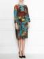 Платье из шелка с цветочным узором Antonio Marras  –  МодельВерхНиз