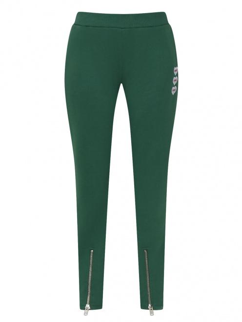 Спортивные брюки из хлопка с боковыми карманами - Общий вид