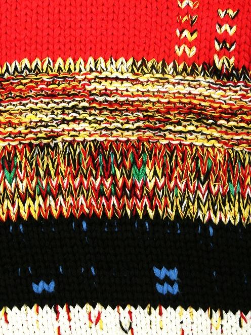 Свитер из хлопка с контрастными вставками  - Деталь
