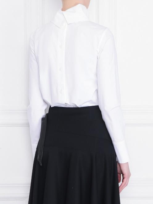 Рубашка из хлопка с декоративным воротом - МодельВерхНиз1