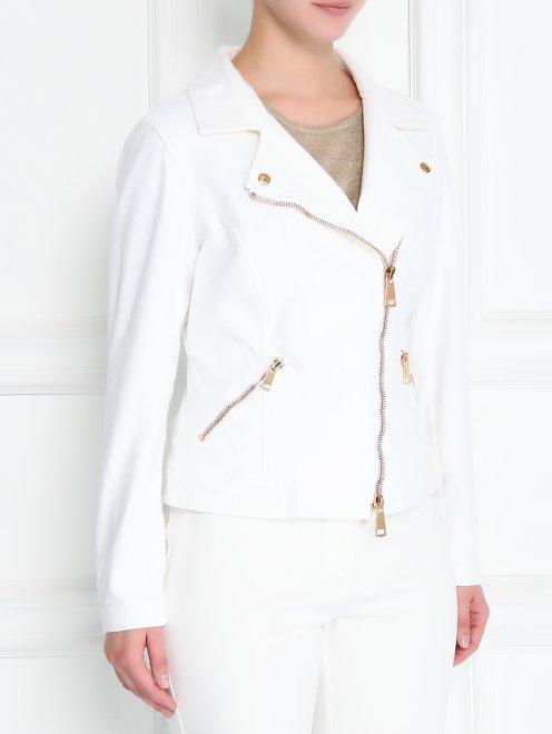 Куртка-косуха из эластичного денима - МодельВерхНиз