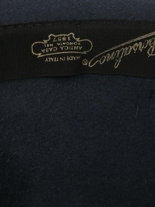 Шляпа из шерсти с контрастной вставкой  - Деталь1