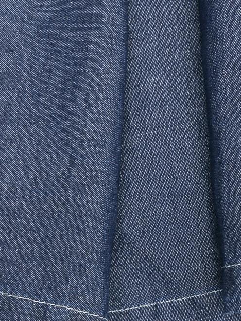 Платье-рубашка из мягкого денима - Деталь1