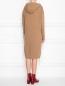 Платье трикотажное из шерсти с капюшоном Max Mara  –  МодельВерхНиз1