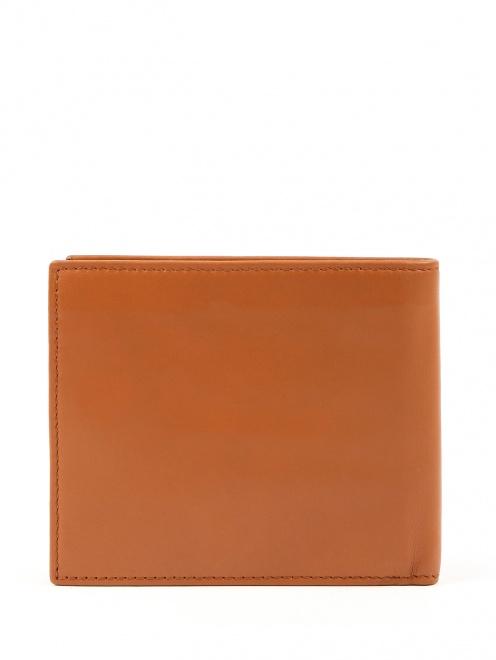 Однотонный кошелек из мягкой кожи - Обтравка3