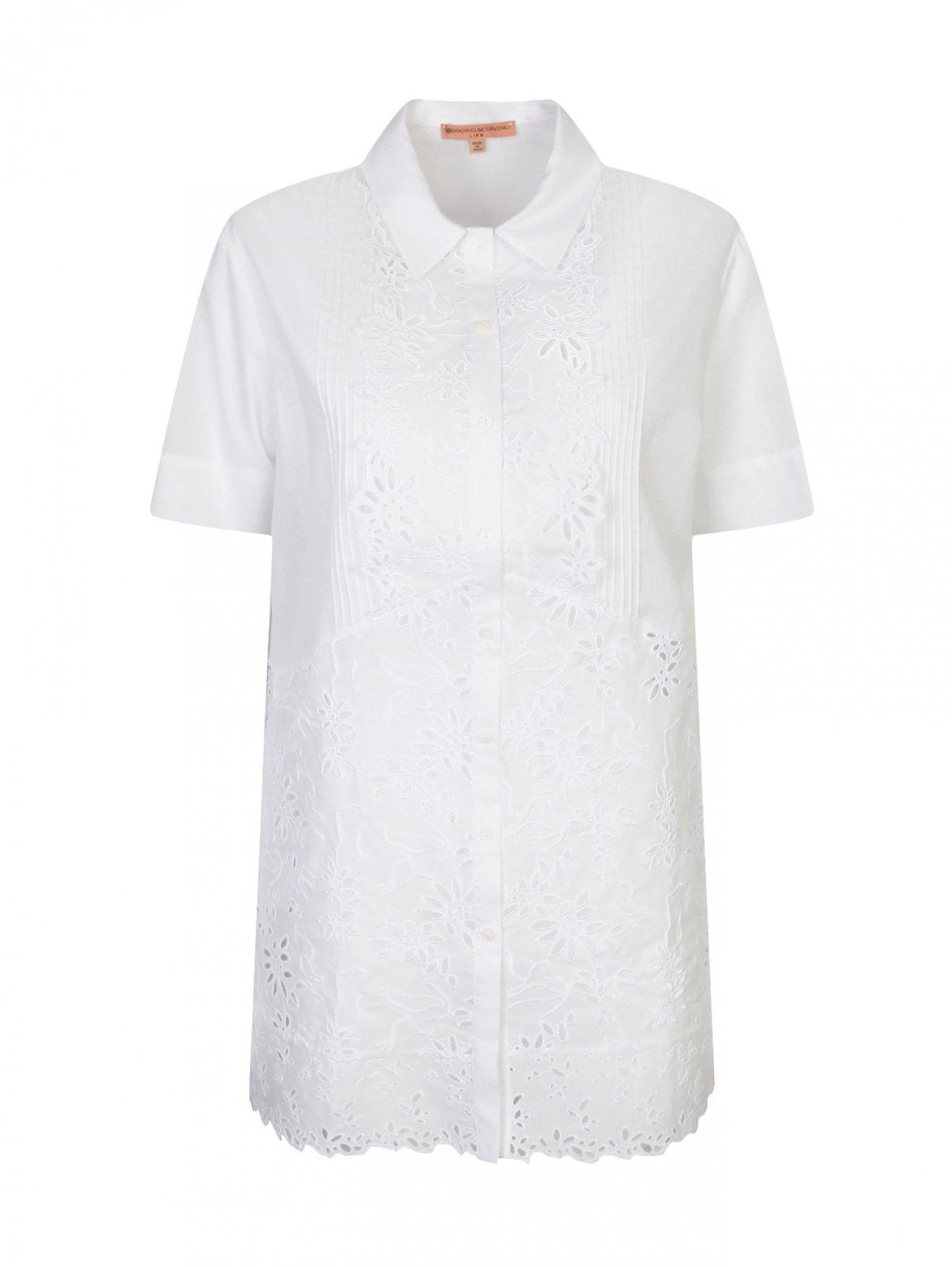 Платье из хлопка с кружевной отделкой Ermanno Scervino  –  Общий вид