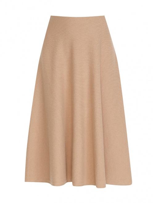 Трикотажная юбка из смешанной шерсти расклешенного кроя - Общий вид