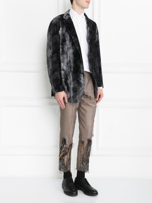 Пиджак однобортный с узором - МодельОбщийВид