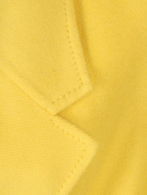 Пальто из кашемира двубортное - Деталь