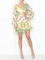 Платье-мини с цветочным узором Zimmermann  –  МодельОбщийВид