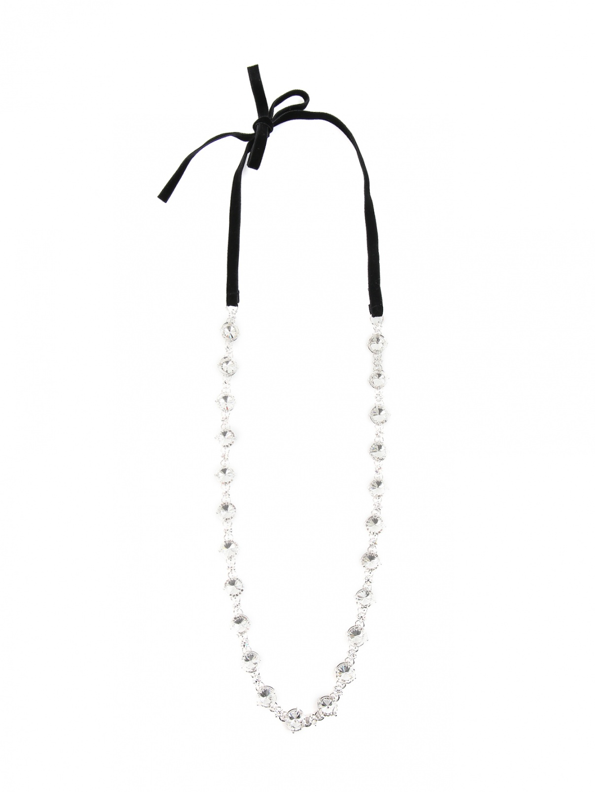 Ожерелье из бархата и металла с декором Philosophy Di Lorenzo Serafini  –  Общий вид