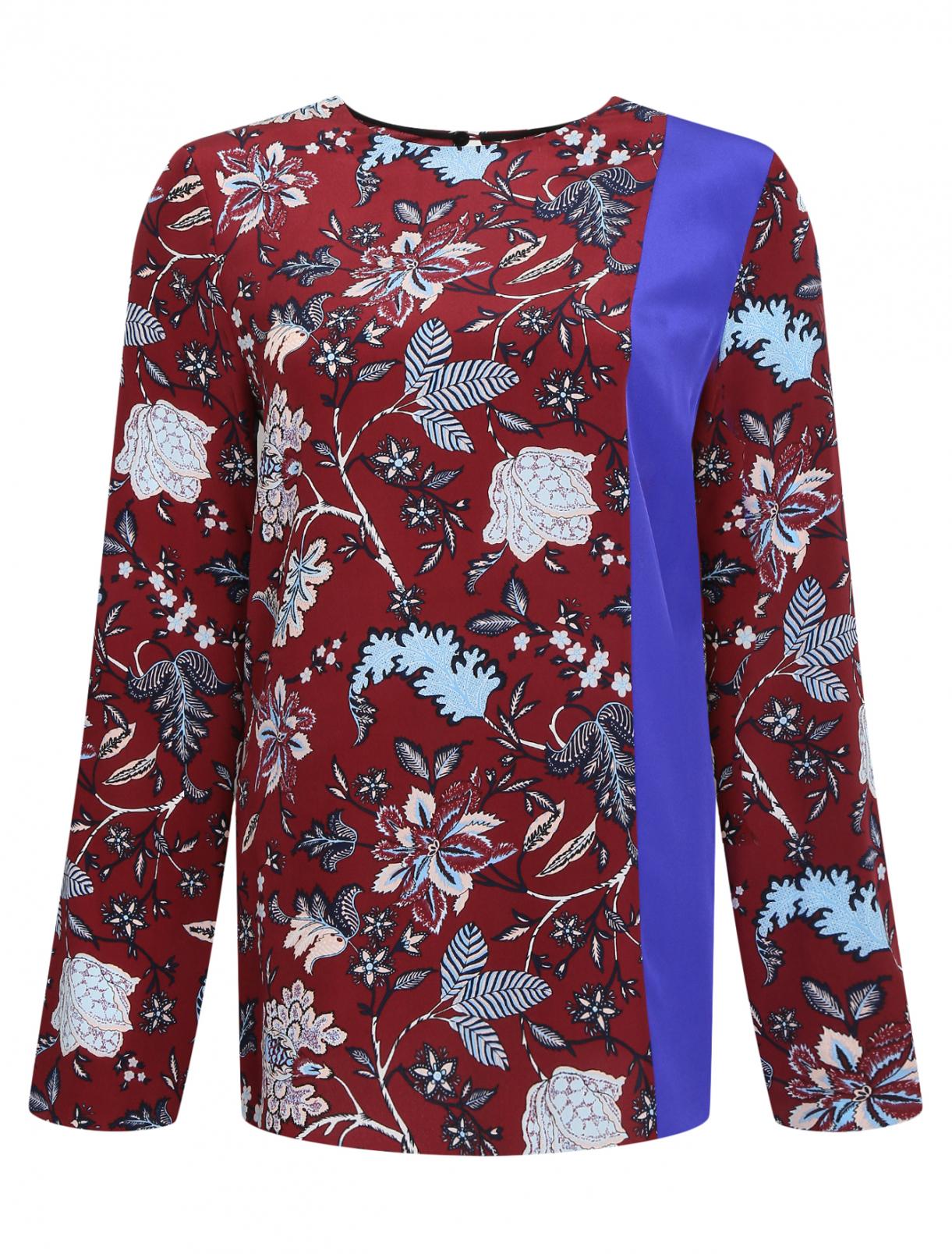 Топ из шелка с цветочным принтом Diane von Furstenberg  –  Общий вид  – Цвет:  Красный