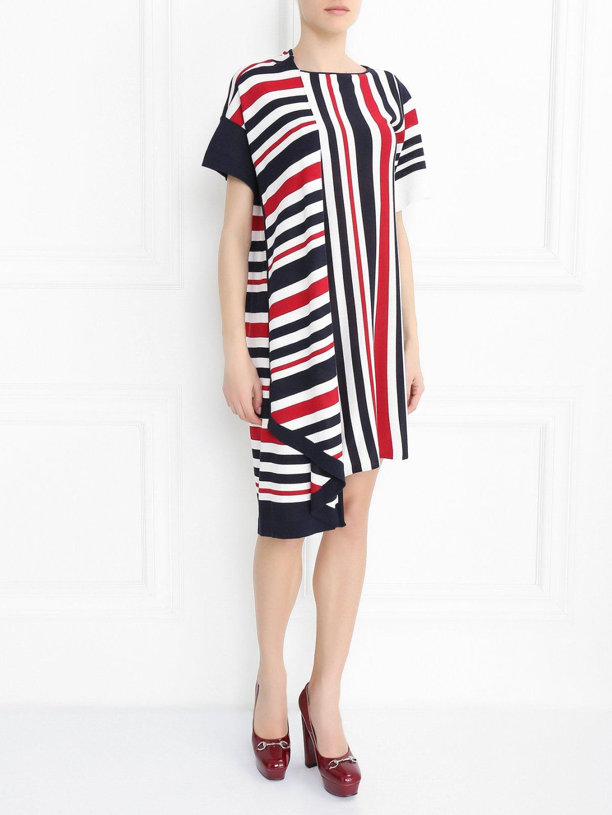 Трикотажное платье-мини с узором Antonio Marras  –  Модель Общий вид