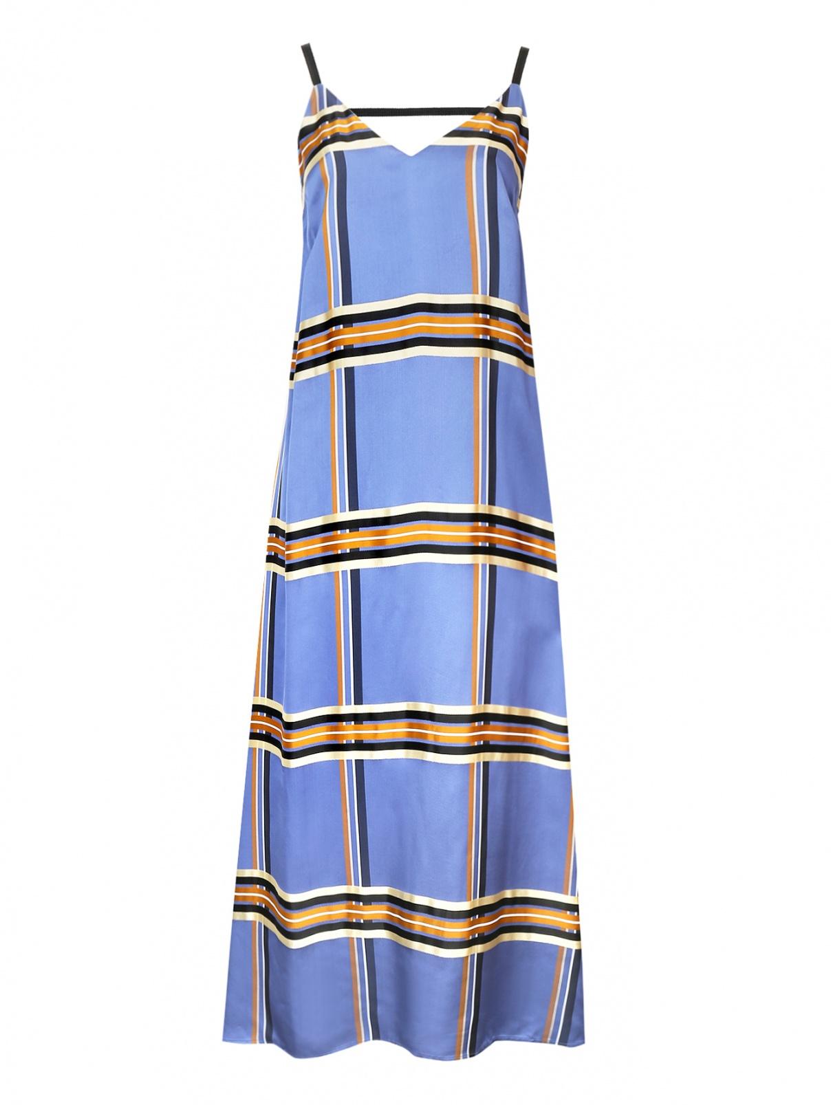 Платье на бретелях из ткани в клетку Alysi  –  Общий вид