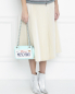 Сумка из кожи с принтом Moschino Couture  –  МодельВерхНиз