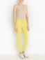 Зауженные брюки из микровельвета American Retro  –  Модель Общий вид