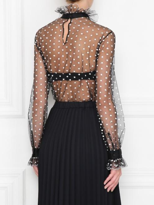 Прозрачная блуза с вышивкой - МодельВерхНиз1