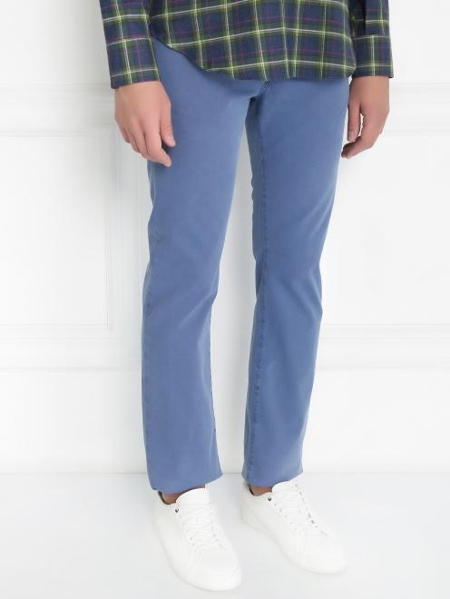 Брюки джинсового кроя из хлопка - Модель Верх-Низ