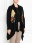 Кардиган из шерсти с цветочным узором Marina Rinaldi  –  Модель Верх-Низ