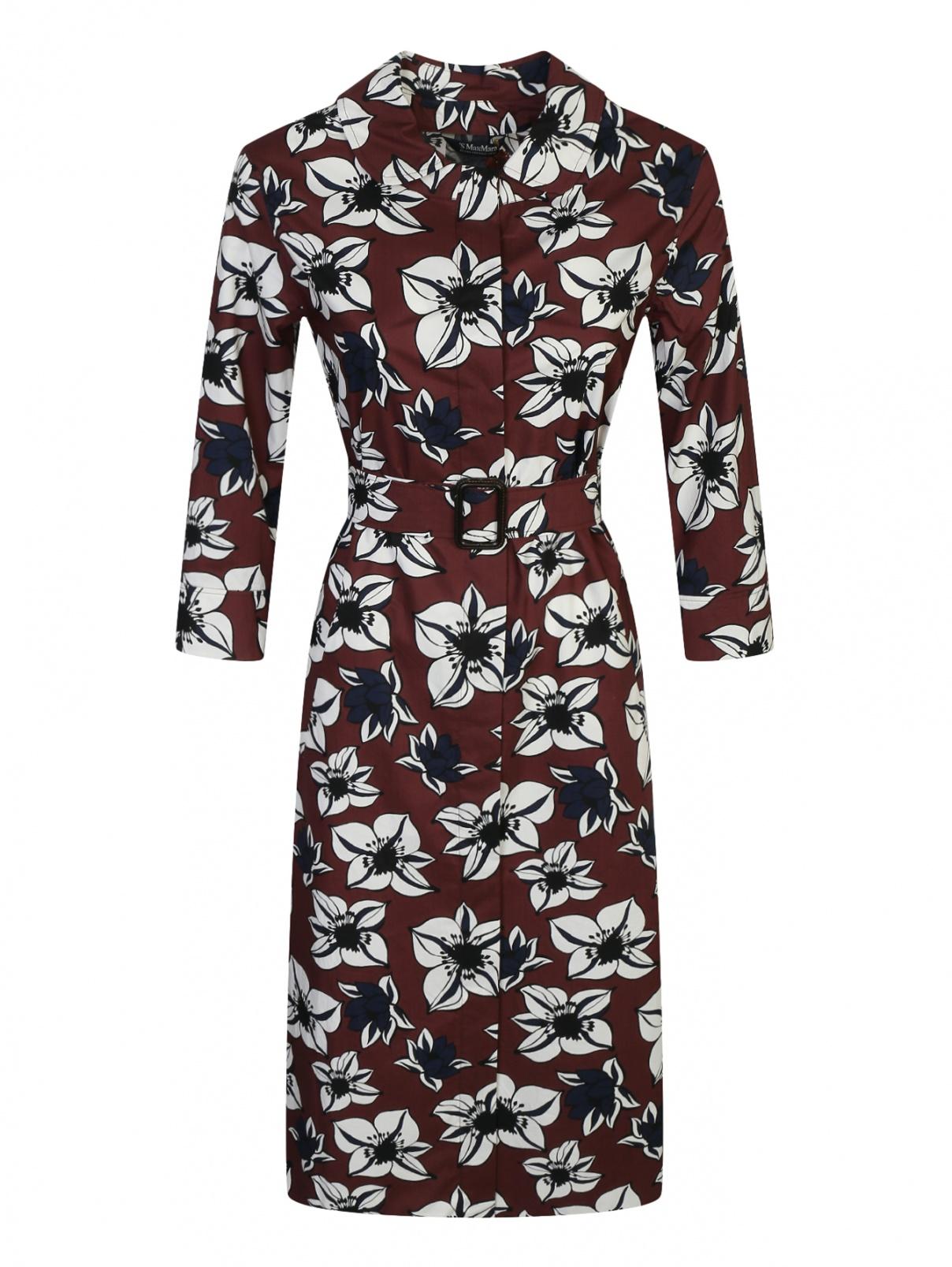 Платье из хлопка с цветочным узором Max Mara  –  Общий вид