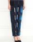 Укороченные узкие брюки с узором Kenzo  –  Модель Верх-Низ