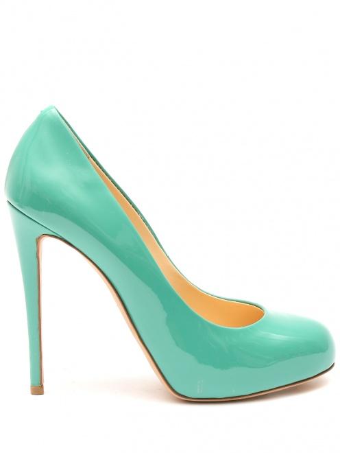 Туфли из лаковой кожи на высоком каблуке - Общий вид