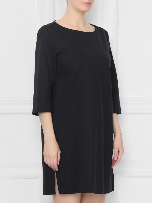 Платье прямого кроя с разрезами  - МодельВерхНиз