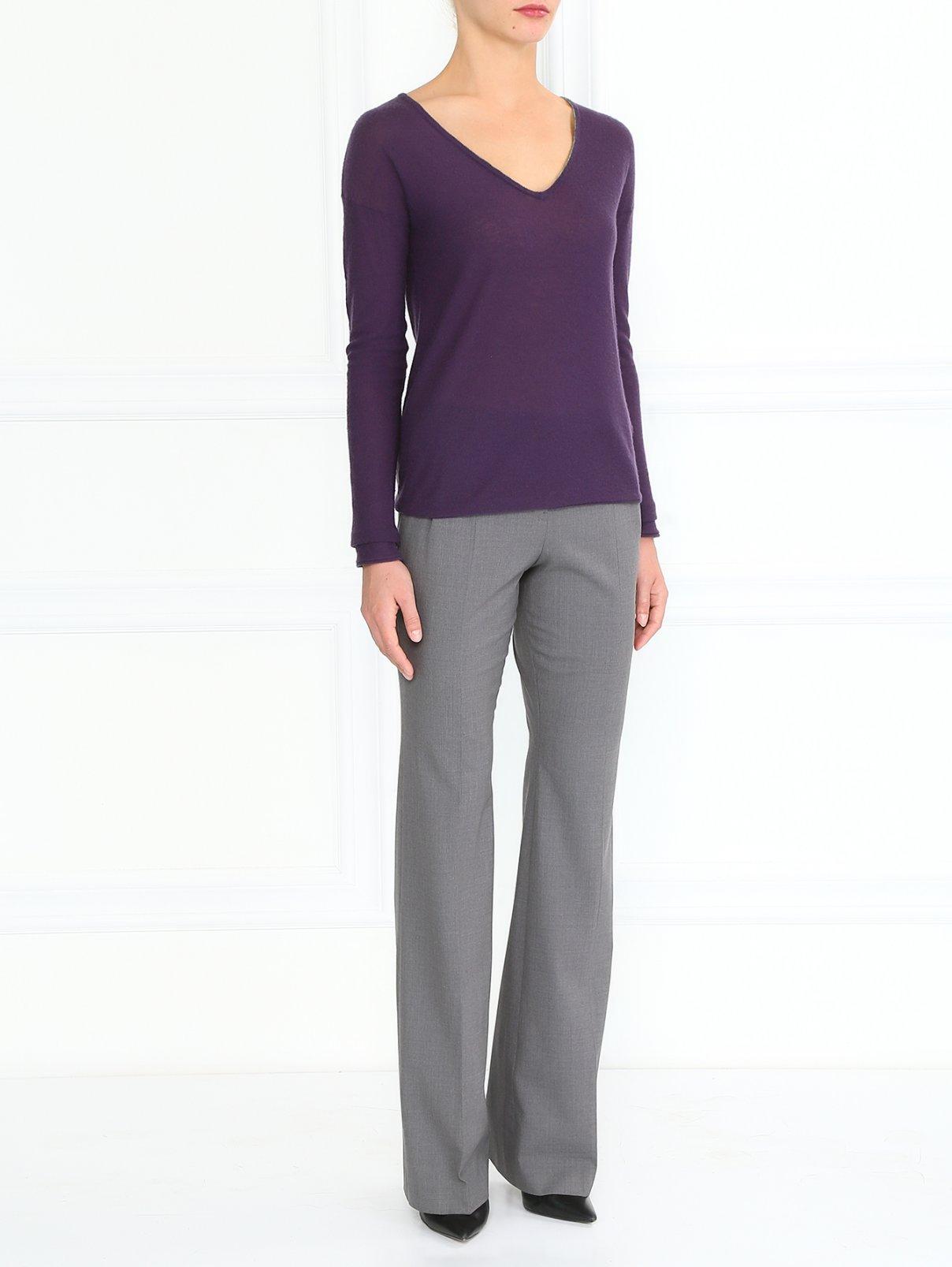 Шерстяные брюки с боковыми карманами Jil Sander  –  Модель Общий вид