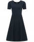 Платье из хлопка с узорной вязкой Brooks Brothers  –  Общий вид