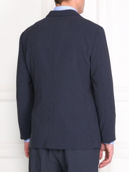 Пиджак из шерсти и шелка - Модель Верх-Низ1