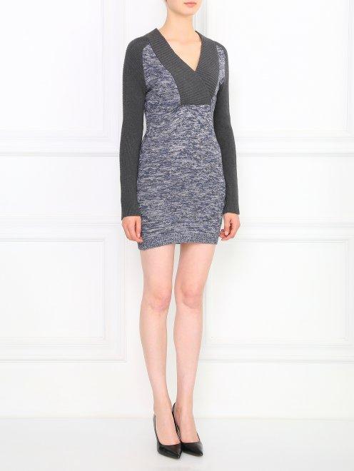 Платье-мини с абстрактным узором - Общий вид