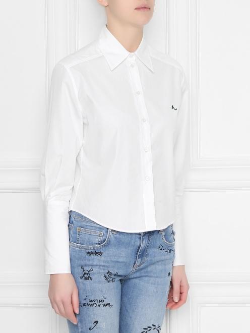 Рубашка из хлопка укороченная - МодельВерхНиз