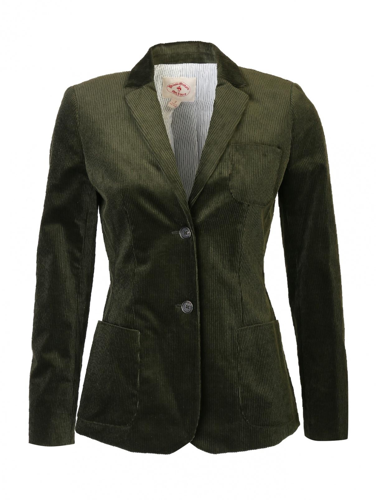 Жакет вельветовый с накладным карманом Brooks Brothers  –  Общий вид