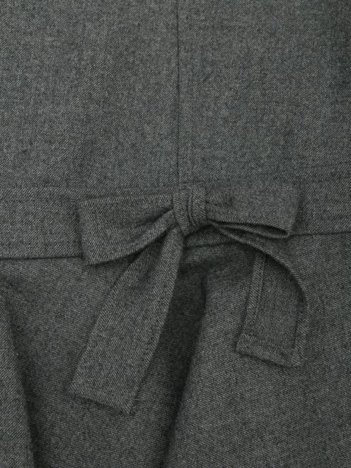 Юбка-мини из шерсти - Деталь