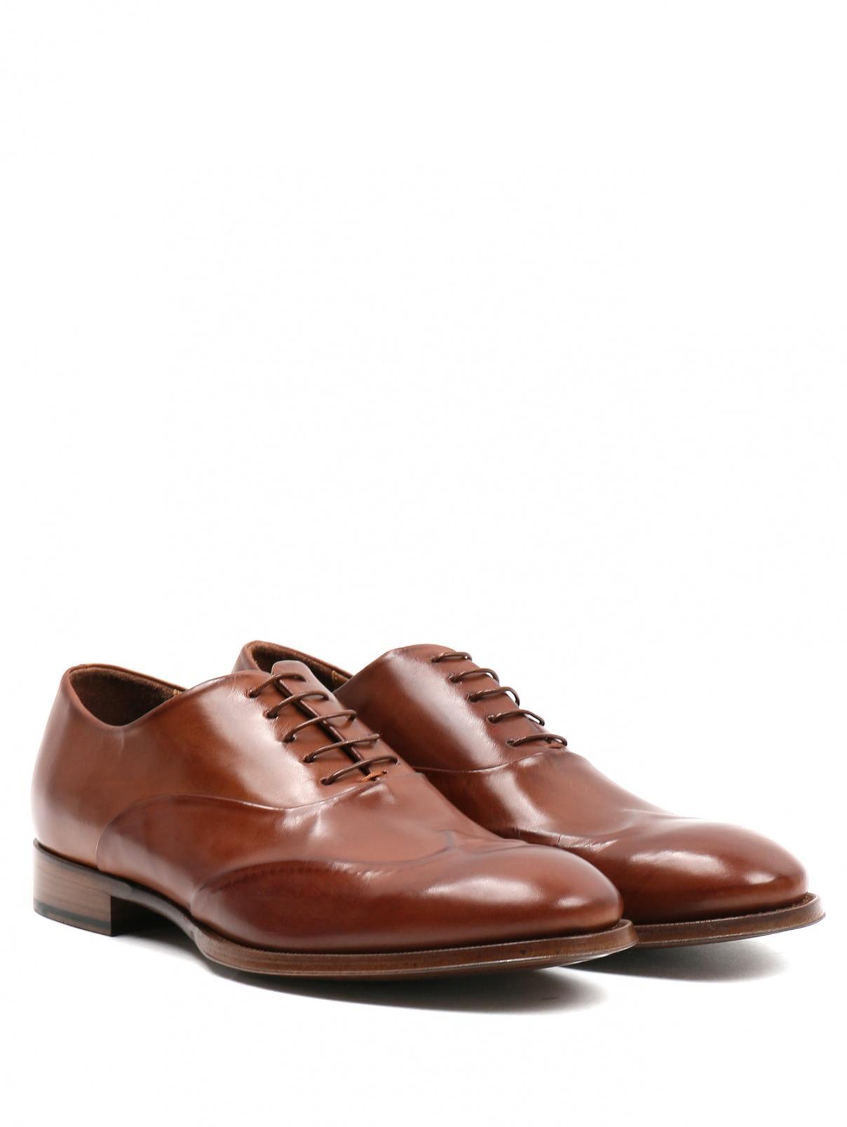 Ботинки из кожи Paul Smith  –  Общий вид  – Цвет:  Коричневый