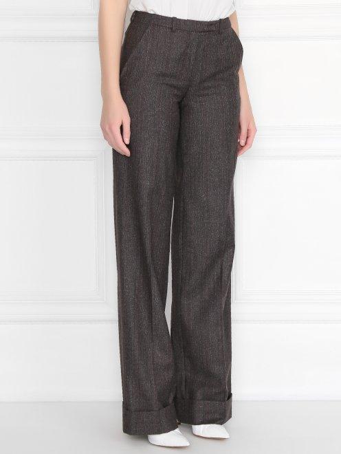Широкие брюки из смесовой шерсти - МодельВерхНиз