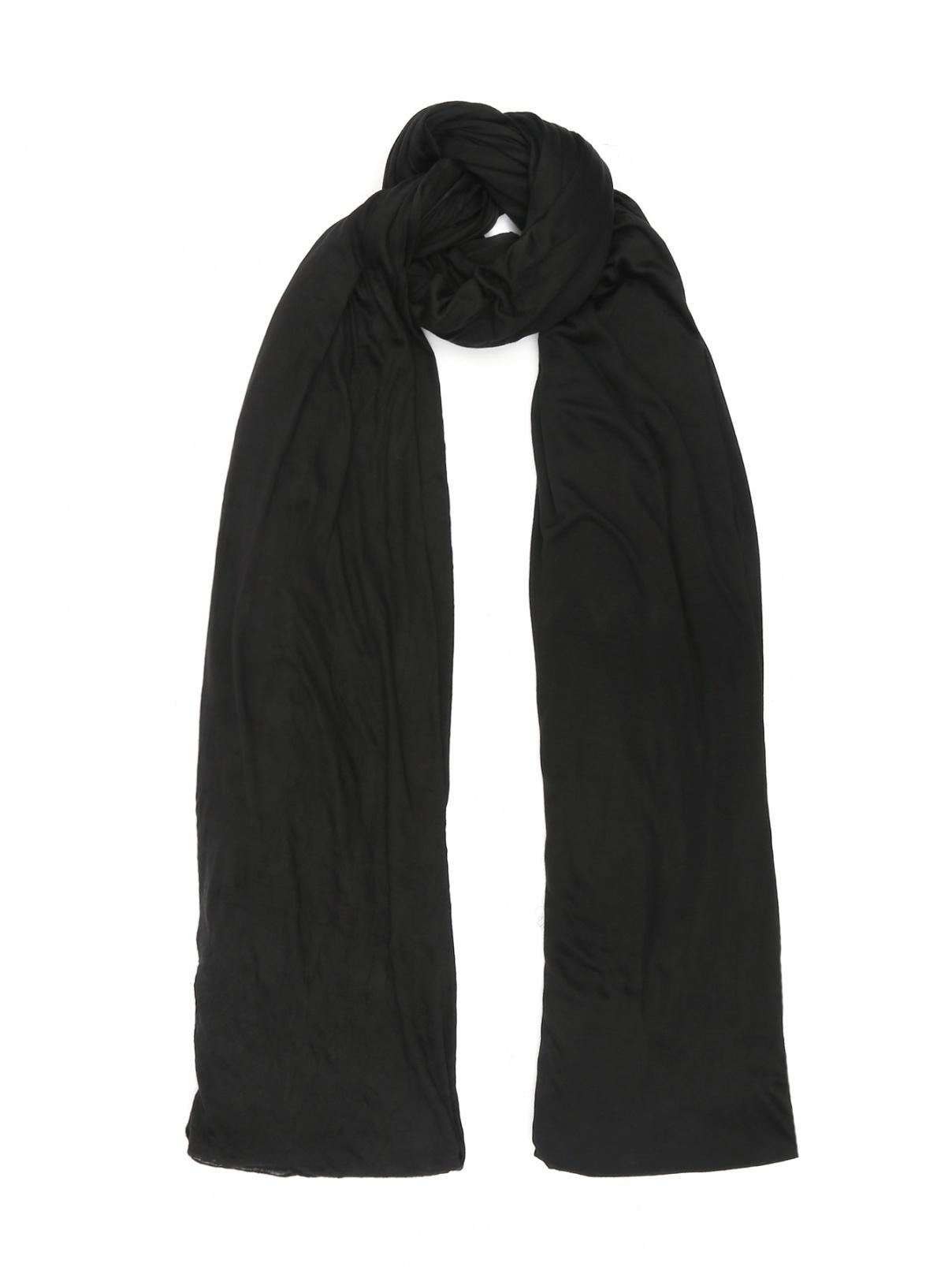Однотонный шарф Yigal Azrouel  –  Общий вид  – Цвет:  Черный