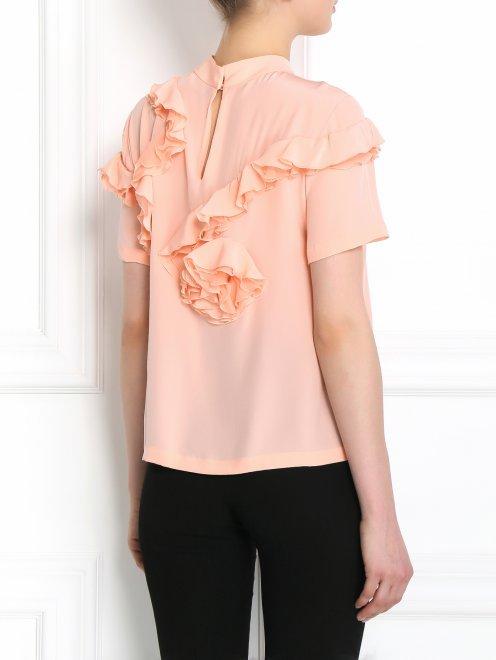 Блуза из шелка с декором - Модель Верх-Низ1