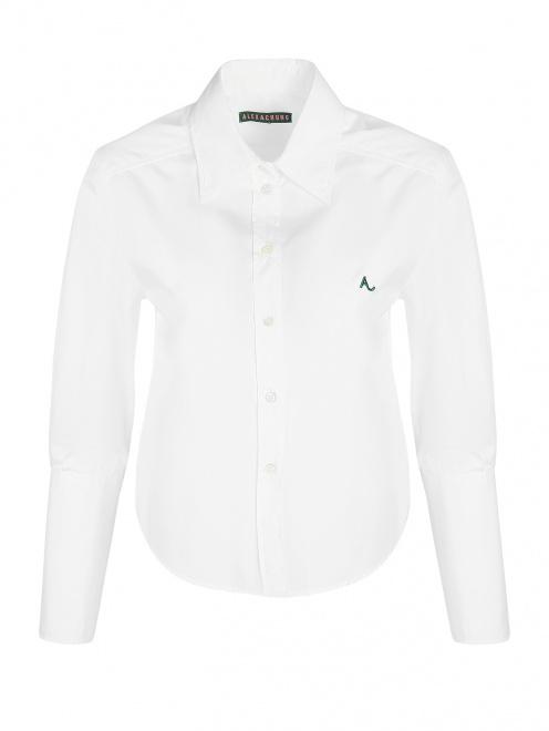 Рубашка из хлопка укороченная - Общий вид