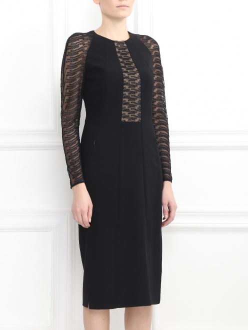 Платье-футляр из шерсти - Модель Верх-Низ