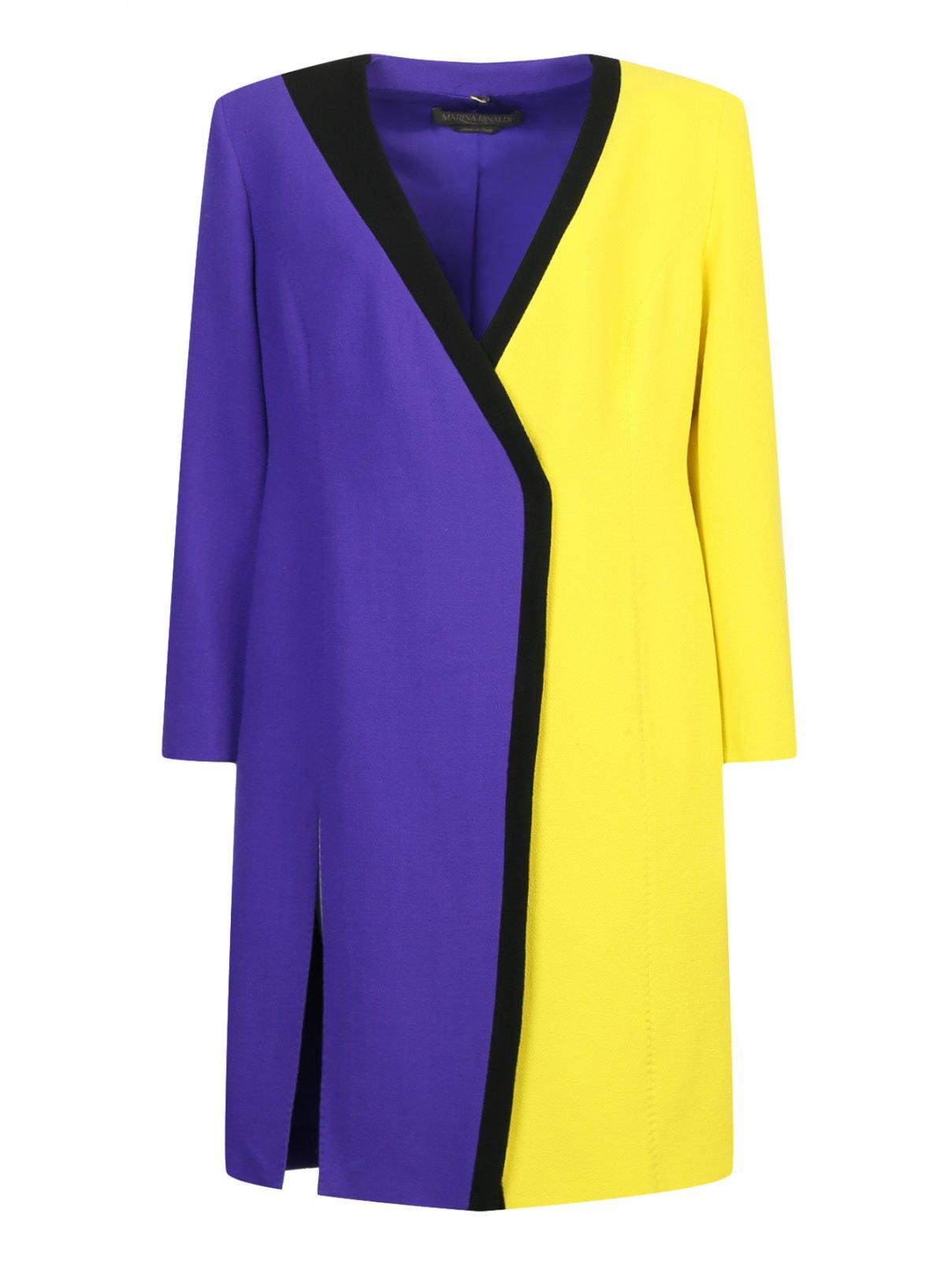 Платье из шерсти с запахом Marina Rinaldi  –  Общий вид