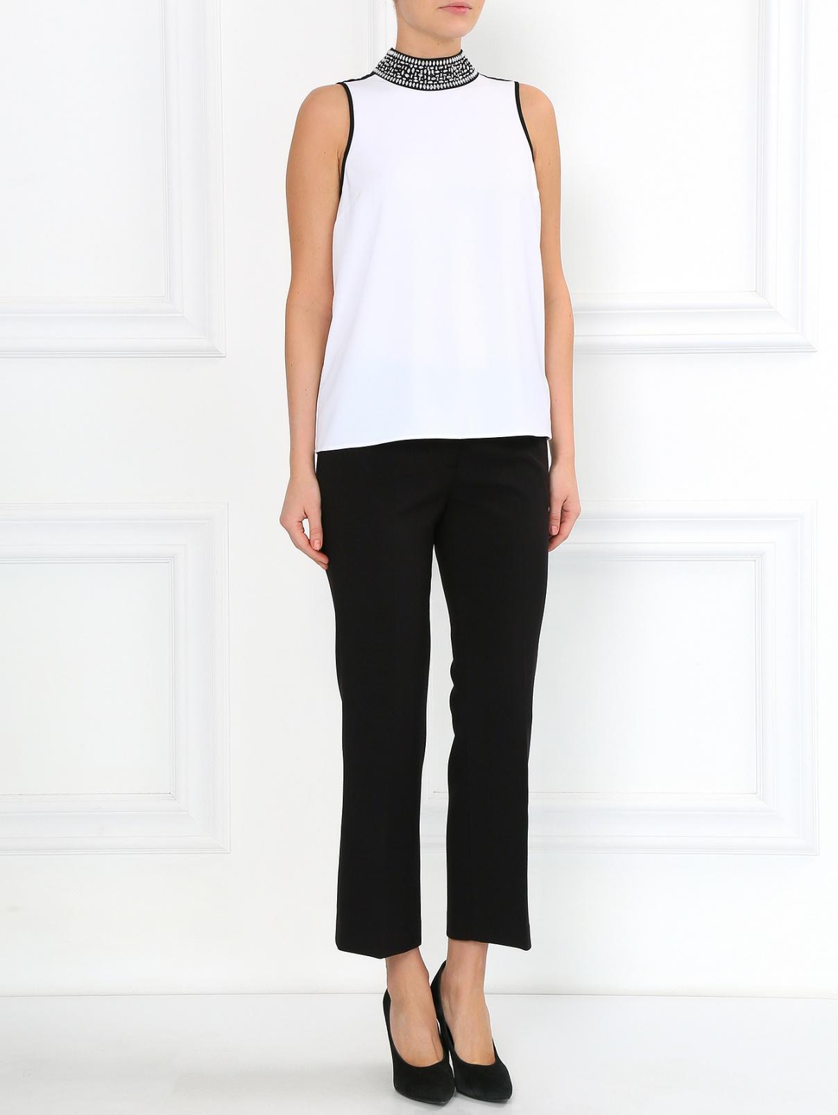 Укороченные брюки с боковыми карманами Michael by Michael Kors  –  Модель Общий вид