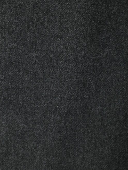 Юбка-макси из шерсти со складкой спереди - Деталь1