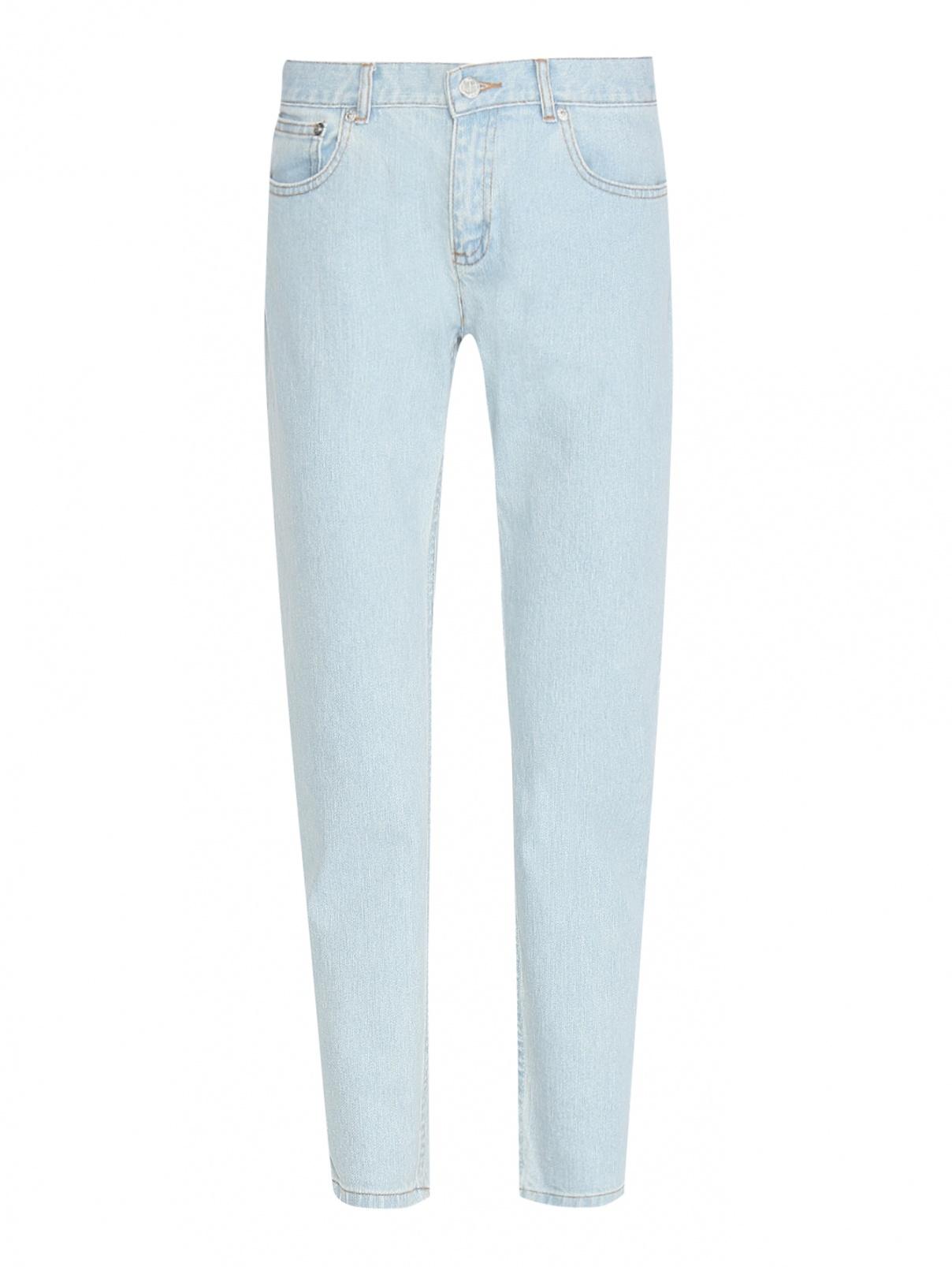 Укороченные джинсы из светлого денима A.P.C.  –  Общий вид  – Цвет:  Синий