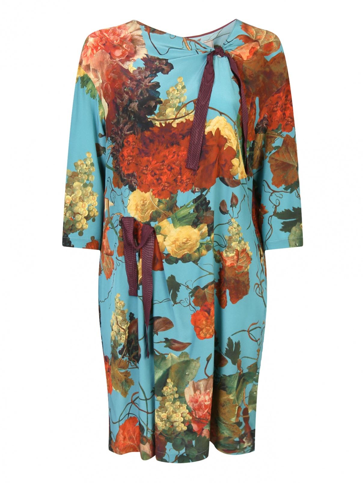 Платье из шелка с цветочным узором Antonio Marras  –  Общий вид