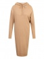 Платье трикотажное из шерсти с капюшоном Max Mara  –  Общий вид