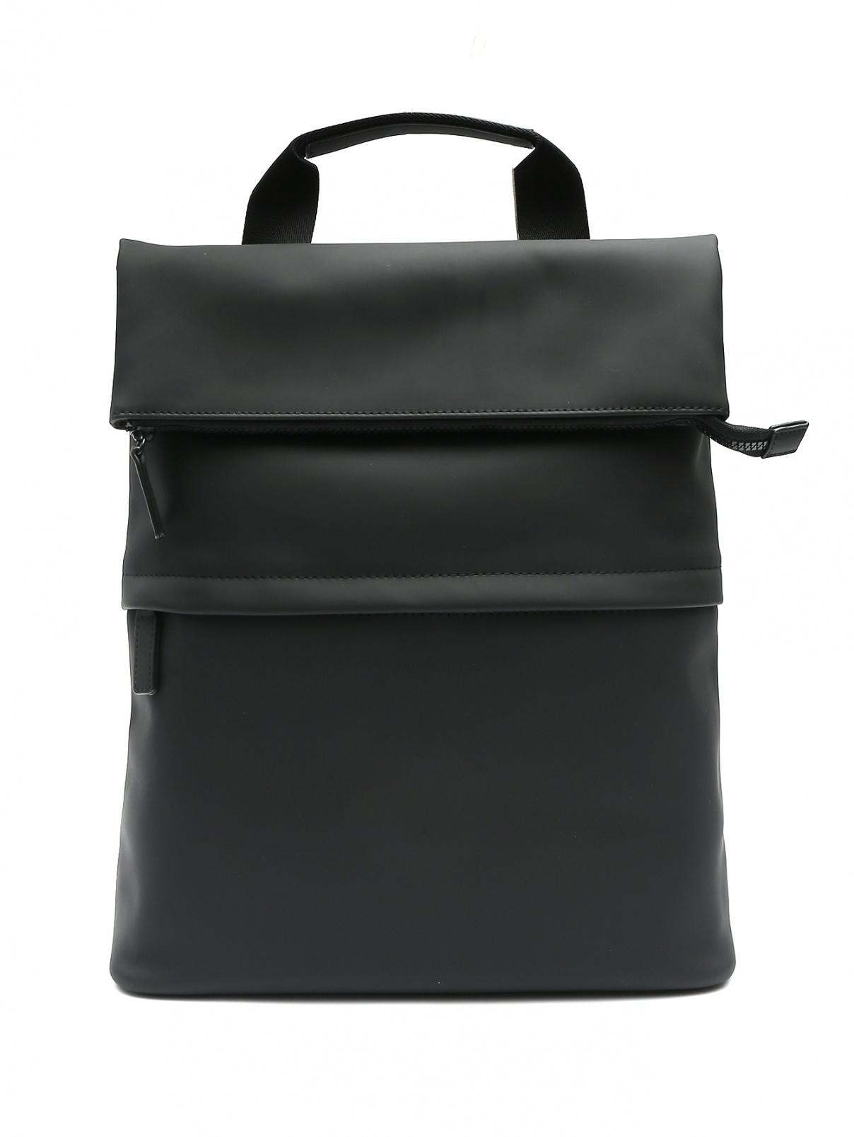 Рюкзак на молнии Marina Rinaldi  –  Общий вид  – Цвет:  Черный