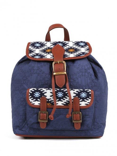 Рюкзак с принтоваными вставками  - Общий вид